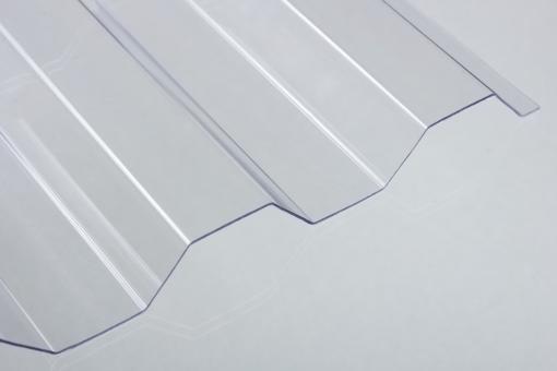 Lichtplatten PVC 1,0mm 70/18 Trapezprofil Sollux klar