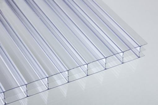 Stegdreifachplatten Polycarbonat 16mm glashell