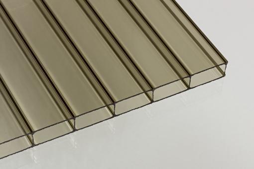 Doppelstegplatten Acrylglas 16mm bronze