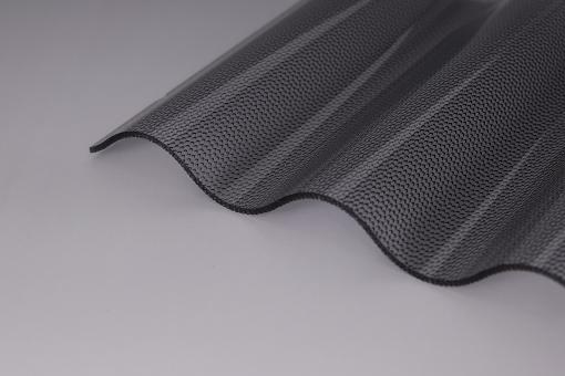 Lichtplatten Acrylglas 2,5mm Perle Sinusprofil graphit