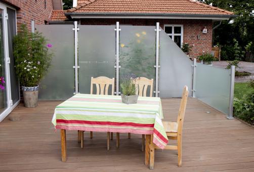 GrojaAmbiente Glas-Sichtschutzelement Senkrecht 120x180 Satiniert