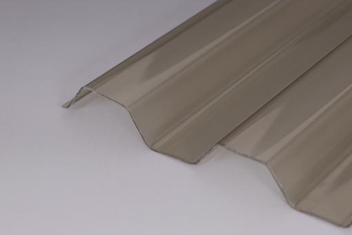 Lichtplatten PVC 1,0mm 70/18 Trapezprofil Sollux bronze