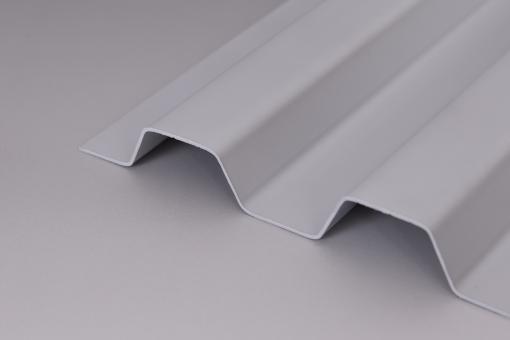 Lichtplatten PVC 1,0mm 70/18 Trapezprofil Sollux grau-opak