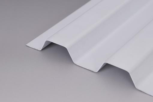 Lichtplatten PVC 1,0mm 70/18 Trapezprofil Sollux weiß-opak