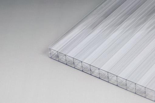 AKTION - Stegplatten Polycarbonat 16mm glashell X-Struktur